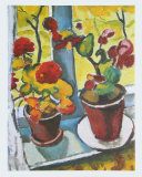 Flowers at the Window, Begonias Prints by Auguste Macke