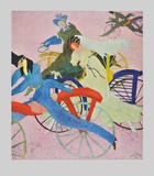 Draisine-Riders Collectable Print by Lyonel Feininger