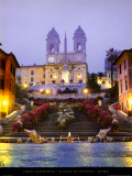 Piazza di Spagna - Rome Print by John Lawrence