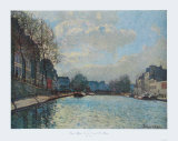 Canal Saint-Martin Collectable Print by Alfred Sisley