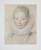 Court Lady of the Infant Collectable Print by Peter Paul Rubens