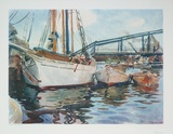 Boats Being Anchored Collectable Print by John Singer Sargent