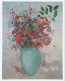 The Turquoise Vase, 1911 Prints by Odilon Redon