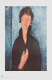Girl with Blue Eyes Collectable Print by Amedeo Modigliani