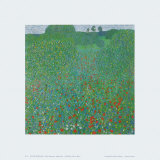 Poppy Field, 1907 Print by Gustav Klimt