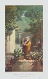 Der Pensionist Sammlerdruck von Carl Spitzweg