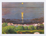 Summer Night at the Beach Affiches par Edvard Munch