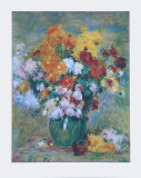 Bouquet of Chrysanthemums Collectable Print by Pierre-Auguste Renoir