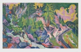 Scenery in the Mountains Collectable Print by Ernst Ludwig Kirchner
