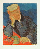 Dr. Paul Gachet, c.1890 Samlertryk af Vincent van Gogh
