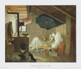 The Poor Poet Collectable Print by Carl Spitzweg