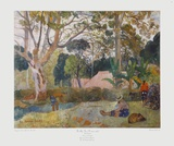 The Large Tree Collectable Print by Paul Gauguin