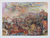 View of Prague Impresso de peas de colees por Oskar Kokoschka