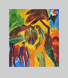 Hay Harvest Collectable Print by Karl Schmidt-Rottluff