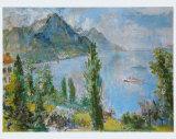 Lake Geneva, 1959 Print by Oskar Kokoschka