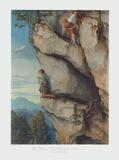 Kaiser Maximilian in der Martinswand Sammlerdruck von Moritz Von Schwind