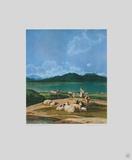 View of Tegernsee Collectable Print by Wilhelm Alexander Wolfgan Von Kobell