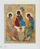Die Heilige Dreifaltigkeit Póster por Andrei Rublev