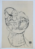 Embracement, 1915 Collectable Print by Egon Schiele