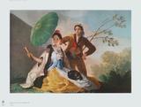 The Parasol Collectable Print by Francisco de Goya