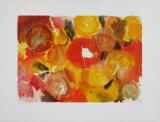 Yellow, Vermilion Samlertryk af Ernst  Wilhelm Nay