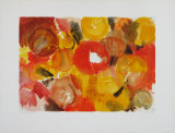 Yellow, Vermilion Collectable Print by Ernst  Wilhelm Nay