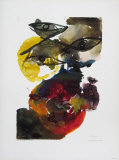 Volcanic Collectable Print by Ernst  Wilhelm Nay