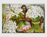 Vendadora de Alcatraces, 1938 Art par Diego Rivera
