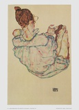 Sitting Women, 1917 Prints by Egon Schiele