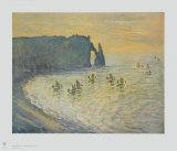 The Cliffs at Etretat Samletrykk av Claude Monet