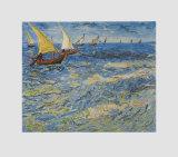 Seascape at Saintes-Maries, c.1888 Sammlerdrucke von Vincent van Gogh