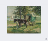 Gipsy Waggon Collectable Print by Camille Pissarro