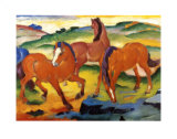 The Large Red Horses, 1911 Posters par Franz Marc