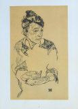 Portrait of Schiele's Mother Collectable Print by Egon Schiele