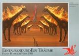 Brennede giraffer i brunt|Burning Giraffes in Brown Posters av Salvador Dalí