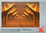 Burning Giraffes in Brown Prints by Salvador Dalí