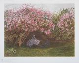 Claude Monet - Resting Under the Lilac - Koleksiyon Baskıları