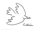 Rauhankyyhkynen Posters tekijänä Pablo Picasso