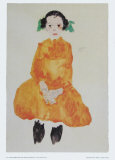 Girl in Yellow Dress, 1911 Juliste tekijänä Egon Schiele