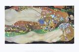 Water Serpents II, ca. 1907 Poster af Gustav Klimt