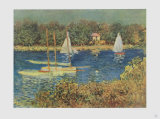 The Basin at Argenteuil Collectable Print by Claude Monet