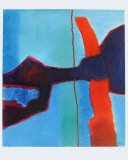 Rød Samlertryk af Fritz Winter