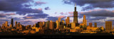 Chicago Skyline at Sunset Lminas por Mark Segal