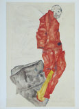 Self-Portrait as Prisoner, 1912 Collectable Print by Egon Schiele