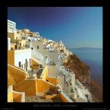 Thira - Santorini Kunstdrucke von Mike Kipling