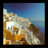 Thira - Santorini Poster by Mike Kipling