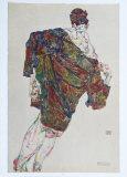 Deliverance, 1913 Samletrykk av Egon Schiele