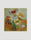 Jarrón con rosas y anémonas Pósters por Vincent van Gogh