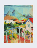 St.Germain Near Tunis, 1914 Poster by Auguste Macke