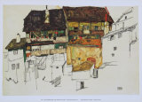 Old Houses at Krumau, 1914 Prints by Egon Schiele